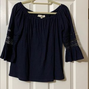 LOFT knit bell sleeve top. Size S.